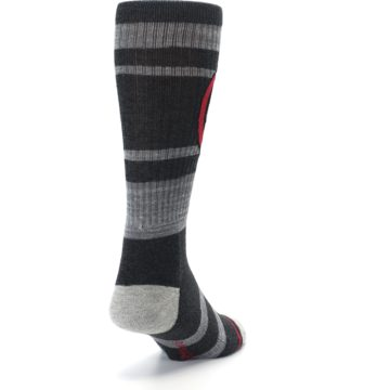 Image of Charcoal Gray Red Deadpool Men's Casual Socks (side-1-back-20)