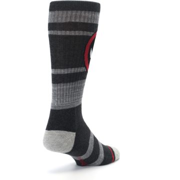 Image of Charcoal Gray Red Deadpool Men's Casual Socks (side-1-back-21)