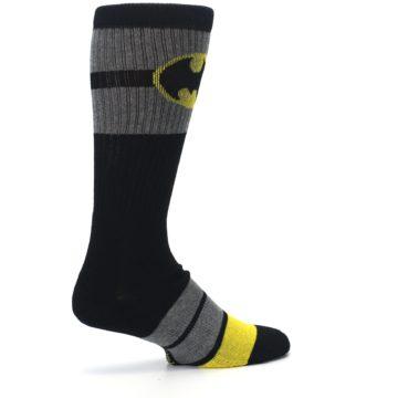 Image of Black Gray Yellow Batman Logo Men's Casual Socks (side-1-23)