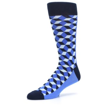 Image of Blues Beeline Optical Men's Dress Socks (side-2-09)