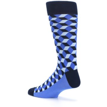 Image of Blues Beeline Optical Men's Dress Socks (side-2-back-14)