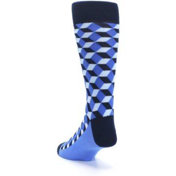 Image of Blues Beeline Optical Men's Dress Socks (side-2-back-16)