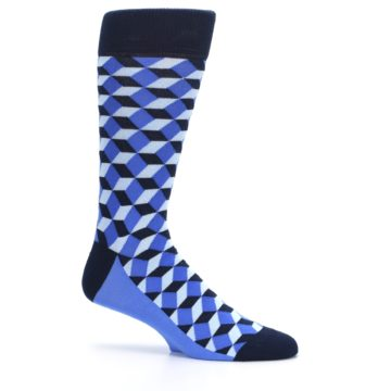 Image of Blues Beeline Optical Men's Dress Socks (side-1-25)