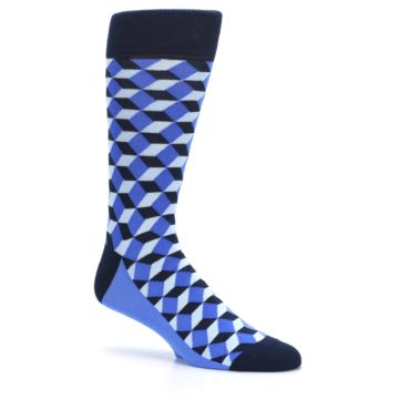 Image of Blues Beeline Optical Men's Dress Socks (side-1-26)