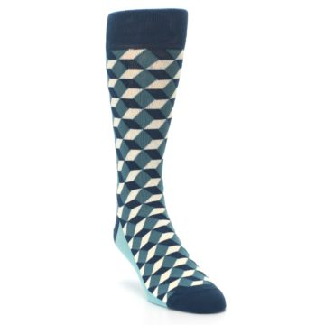 Image of Teals Beeline Optical Men's Dress Socks (side-1-front-02)