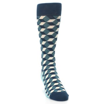 Image of Teals Beeline Optical Men's Dress Socks (side-1-front-03)