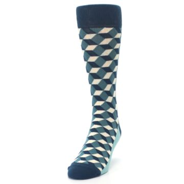 Image of Teals Beeline Optical Men's Dress Socks (side-2-front-06)