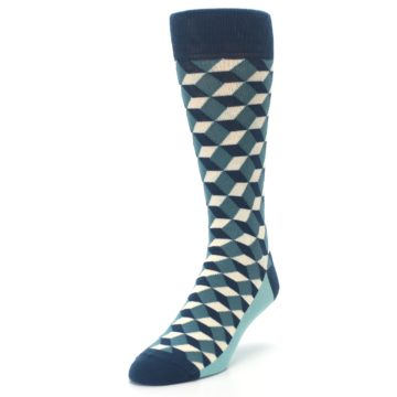 Image of Teals Beeline Optical Men's Dress Socks (side-2-front-07)