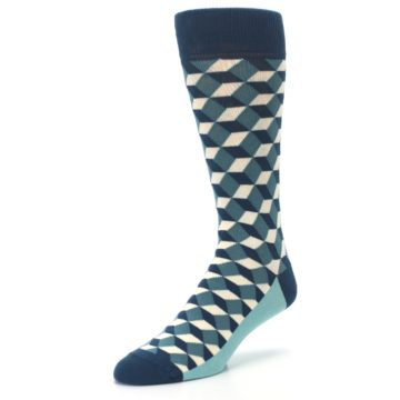 Image of Teals Beeline Optical Men's Dress Socks (side-2-front-08)