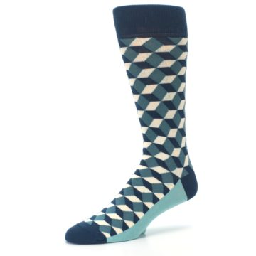 Image of Teals Beeline Optical Men's Dress Socks (side-2-09)