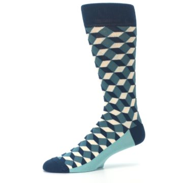 Image of Teals Beeline Optical Men's Dress Socks (side-2-10)