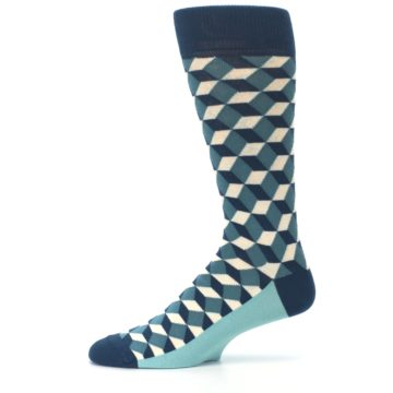 Image of Teals Beeline Optical Men's Dress Socks (side-2-11)