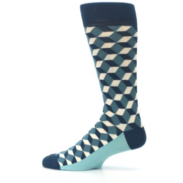Image of Teals Beeline Optical Men's Dress Socks (side-2-12)