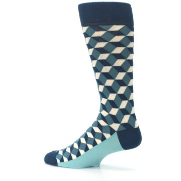 Image of Teals Beeline Optical Men's Dress Socks (side-2-13)