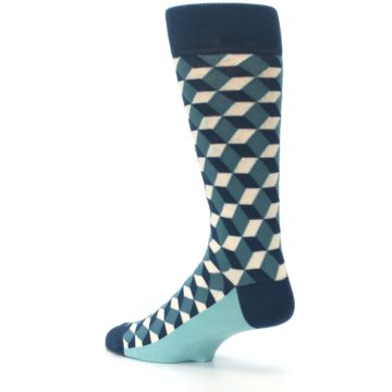 Image of Teals Beeline Optical Men's Dress Socks (side-2-back-14)