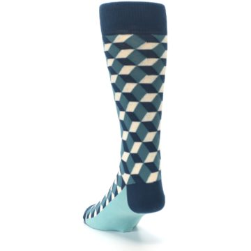 Image of Teals Beeline Optical Men's Dress Socks (side-2-back-16)