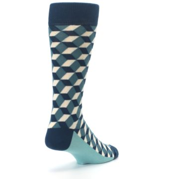 Image of Teals Beeline Optical Men's Dress Socks (side-1-back-21)