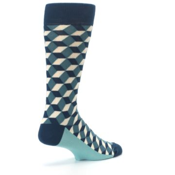 Image of Teals Beeline Optical Men's Dress Socks (side-1-back-22)