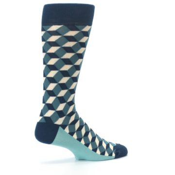 Image of Teals Beeline Optical Men's Dress Socks (side-1-23)