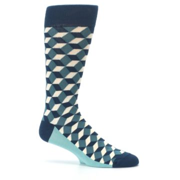 Image of Teals Beeline Optical Men's Dress Socks (side-1-25)