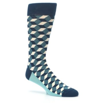 Image of Teals Beeline Optical Men's Dress Socks (side-1-26)