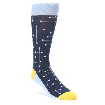 Statement Sockwear Line Dot Light Blue Navy for Men