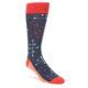 Red Dot Line Men's Socks by Statment Sockwear