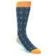 Teal Orange Feather Optic Socks by Statement Sockwear for Men