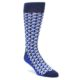 Statement Sockwear Blue Navy Optical Y Cube Pattern Socks for Men