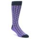 Purple Navy Optical Y Cube Pattern Socks for Men by Statement Sockwear