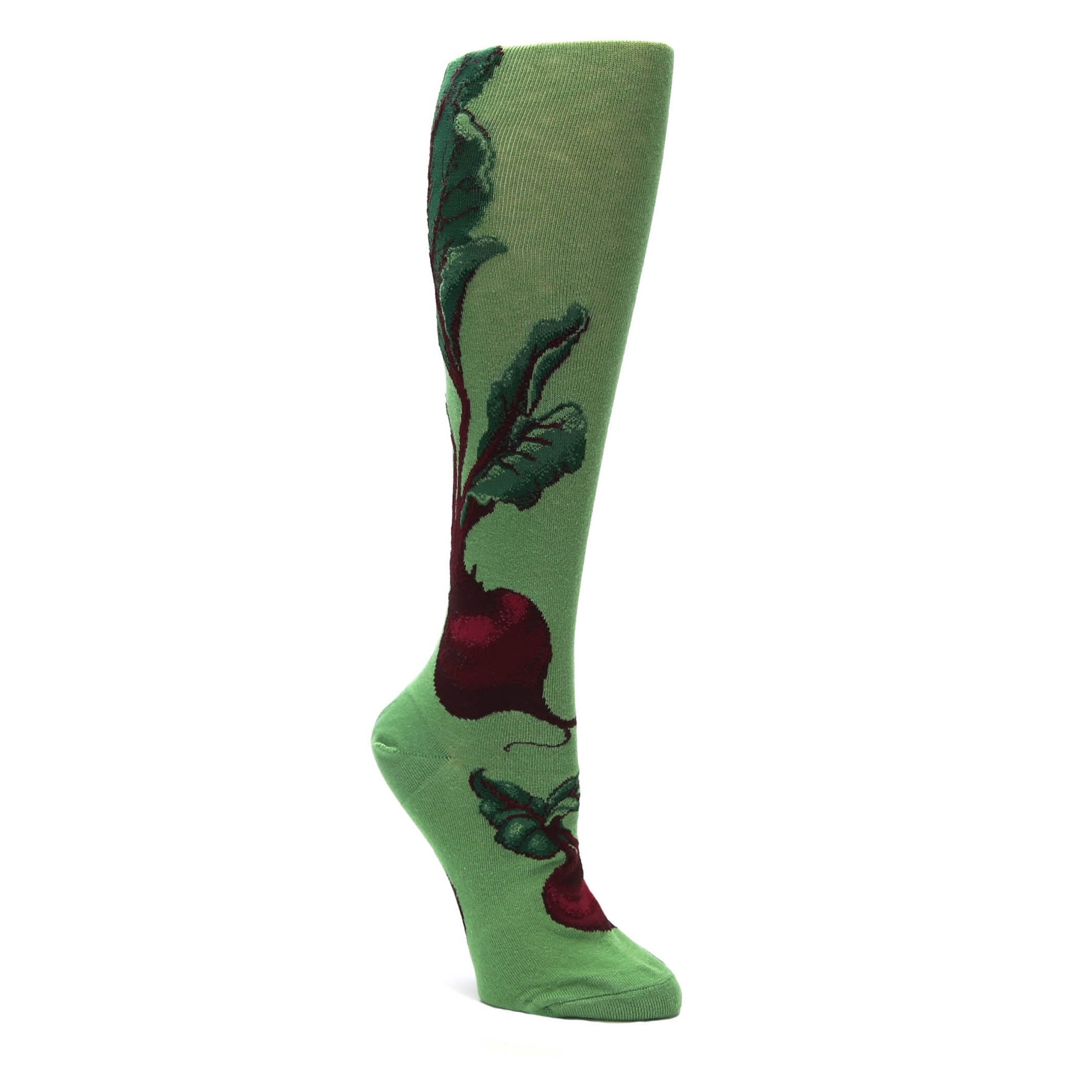 1920a63ad Green Red Beets Women's Knee High Socks | boldSOCKS