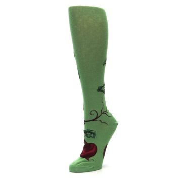 Image of Green Red Beets Women's Knee High Socks (side-2-09)