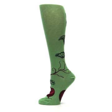 Image of Green Red Beets Women's Knee High Socks (side-2-12)