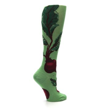 Image of Green Red Beets Women's Knee High Socks (side-1-24)