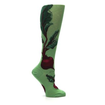 Image of Green Red Beets Women's Knee High Socks (side-1-25)