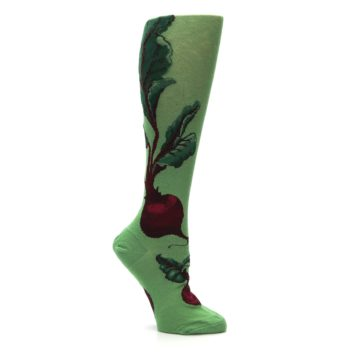 Image of Green Red Beets Women's Knee High Socks (side-1-26)