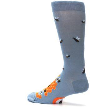Image of Slate Blue Gray Honey Badger Men's Dress Socks (side-2-13)