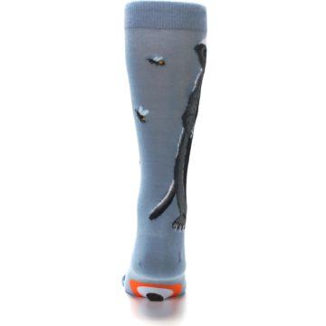 Image of Slate Blue Gray Honey Badger Men's Dress Socks (back-18)