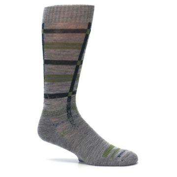 Image of Gray Green Huntley Plaid Wool Men's Casual Socks (side-1-25)