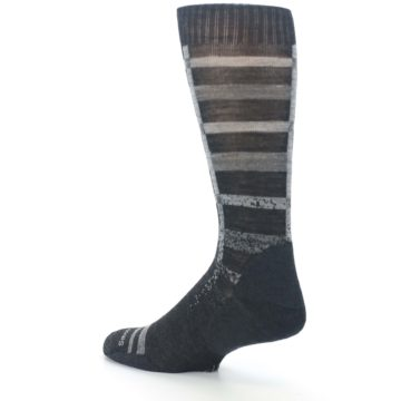 Image of Charcoal Gray Huntley Plaid Wool Men's Casual Socks (side-2-back-14)