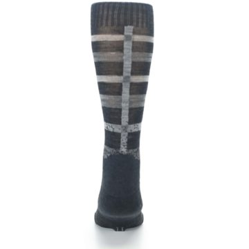 Image of Charcoal Gray Huntley Plaid Wool Men's Casual Socks (back-18)