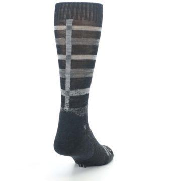 Image of Charcoal Gray Huntley Plaid Wool Men's Casual Socks (side-1-back-20)