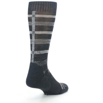 Image of Charcoal Gray Huntley Plaid Wool Men's Casual Socks (side-1-back-21)