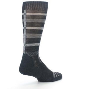 Image of Charcoal Gray Huntley Plaid Wool Men's Casual Socks (side-1-back-22)