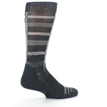 Image of Charcoal Gray Huntley Plaid Wool Men's Casual Socks (side-1-23)