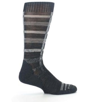 Image of Charcoal Gray Huntley Plaid Wool Men's Casual Socks (side-1-24)