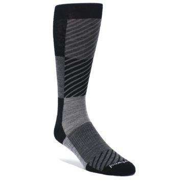 Black-Gray-Gunnar-Checkered-Wool-Mens-Casual-Socks-Smartwool