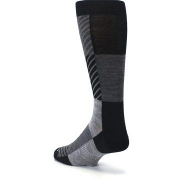 Image of Black Gray Gunnar Checkered Wool Men's Casual Socks (side-2-back-15)