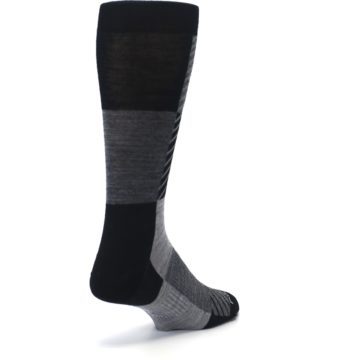 Image of Black Gray Gunnar Checkered Wool Men's Casual Socks (side-1-back-20)