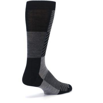 Image of Black Gray Gunnar Checkered Wool Men's Casual Socks (side-1-back-21)